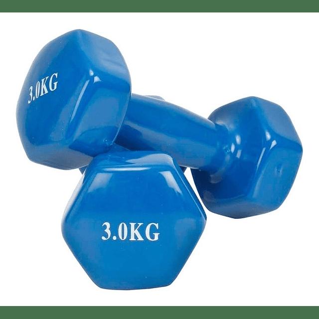 Par Mancuernas De Vinilo De 3kg Pesa Fitness Crossfit