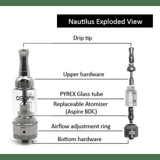 Claromizador Nautilus Aspire Pirex Cigarro Electronico