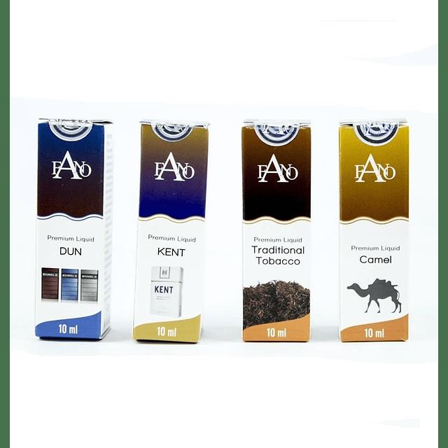 Pack De 10 Esencia Cigarro Electrónico Fano