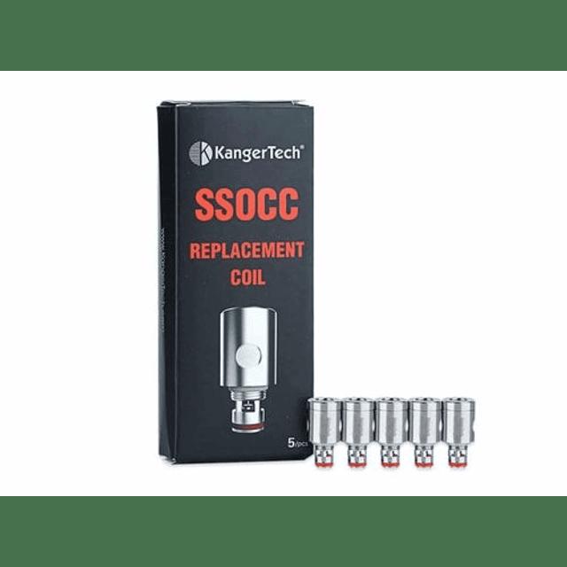 Pack 5 Resistencia Repuesto Kangertech SSOCC NiCr 0.5ohm