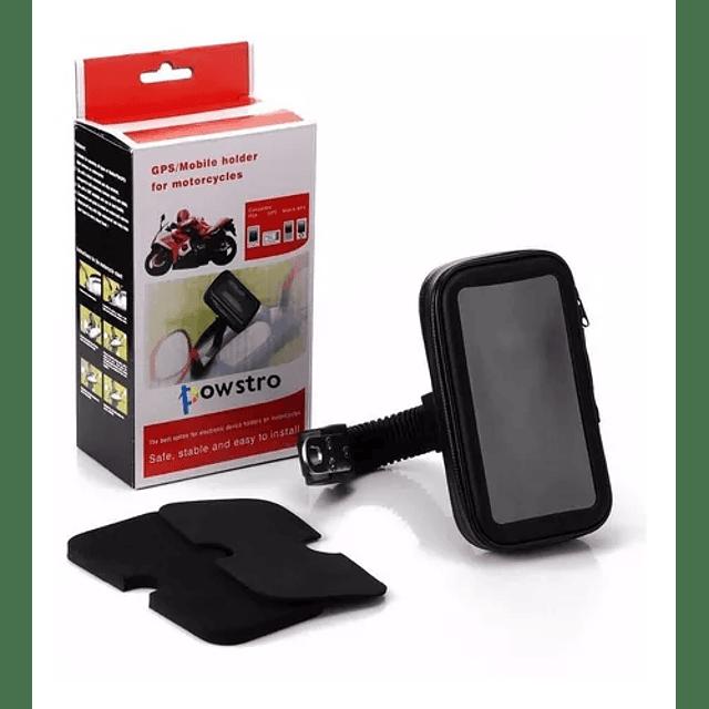 Porta Celular Moto Usb Soporte Impermeable Cargador