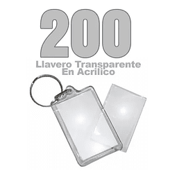 200 Llaveros Acrílicos Portafotos Ekipofertas