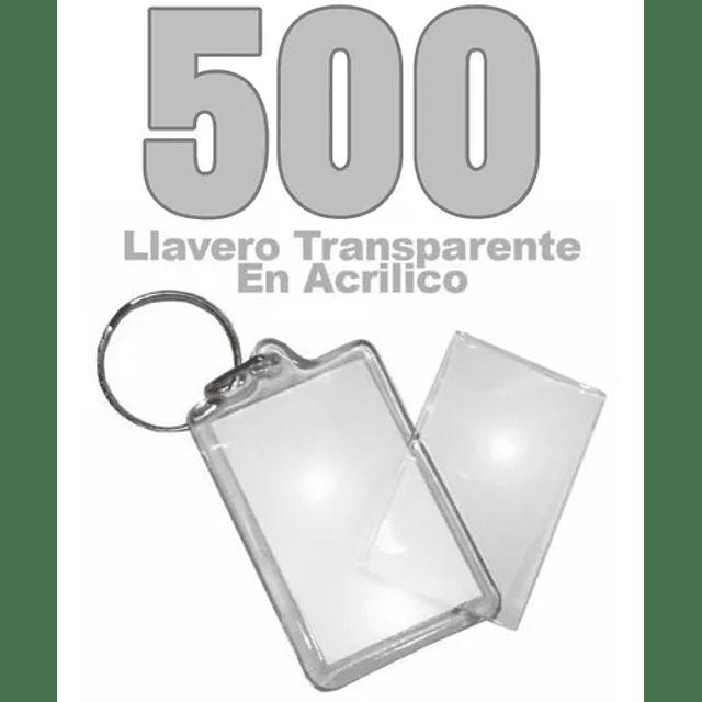 500 Llaveros Acrílicos Portafotos Publicitario