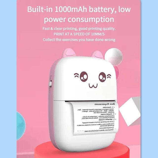 Mini Impresora Térmica Portátil Gatita Gatito Bluetooth
