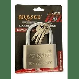 Candado Curvo Seguridad Grillete Endurecido 70mm