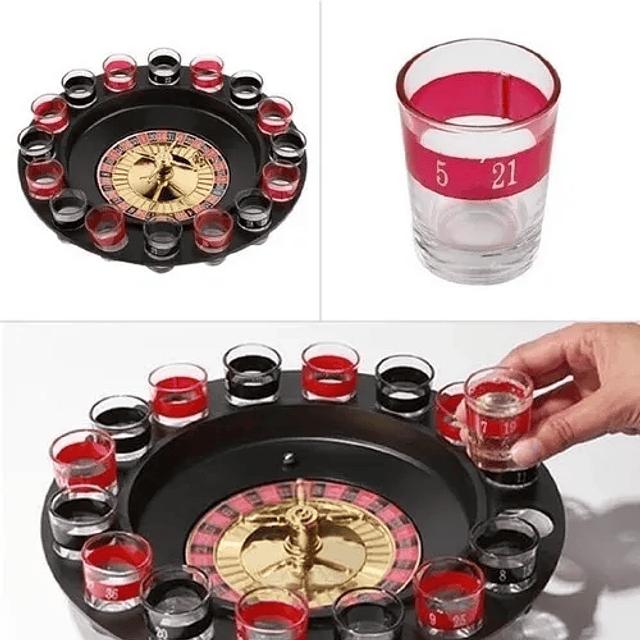 Ruleta Casino Shots Vasos Bar Diversion Juego De Fiesta