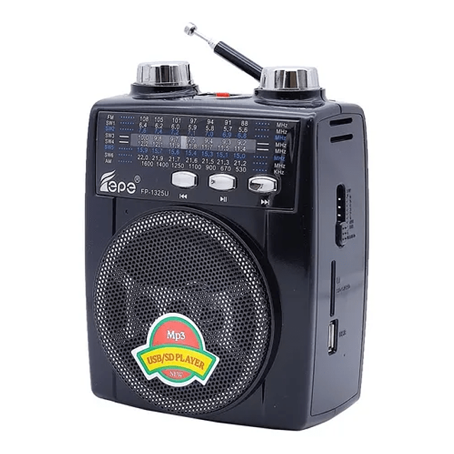 Radio Mp3 Tercera Edad Linterna Am Fm Antena