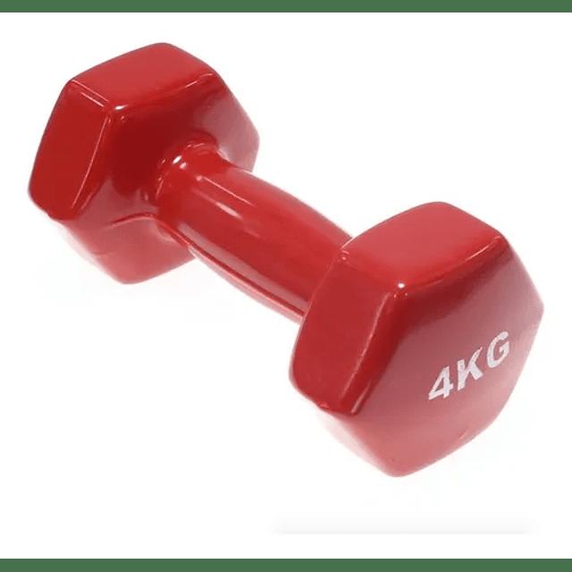 Par Mancuernas De Vinilo De 4kg Pesa Fitness Crossfit