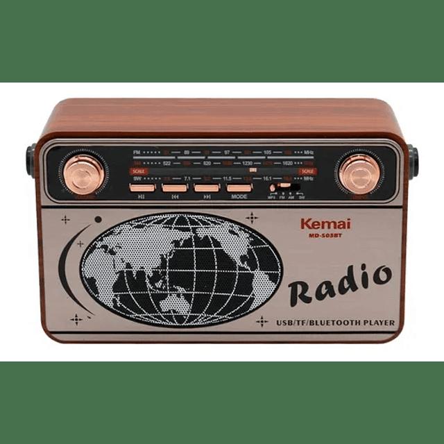Radio Portátil Tercera Edad Fm Am Bluetooth Vintage