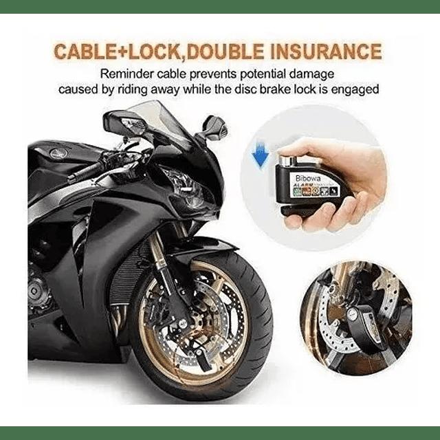 Candado Freno Disco Moto Bici Alarma Bloqueo Antirrobo Alarm