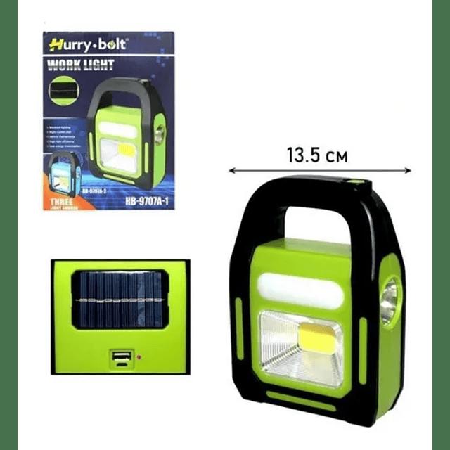 Linterna Led Solar 3 En 1 Usb Recargable