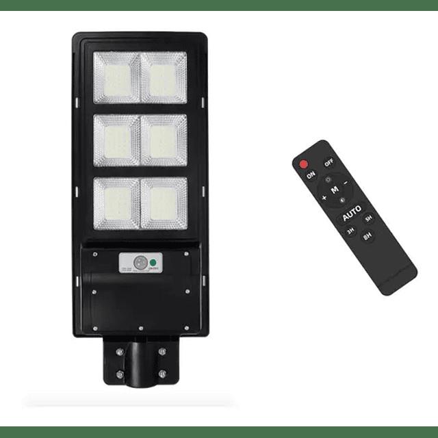 Foco Led Solar 6500k 180w Luminaria + Poste + Control