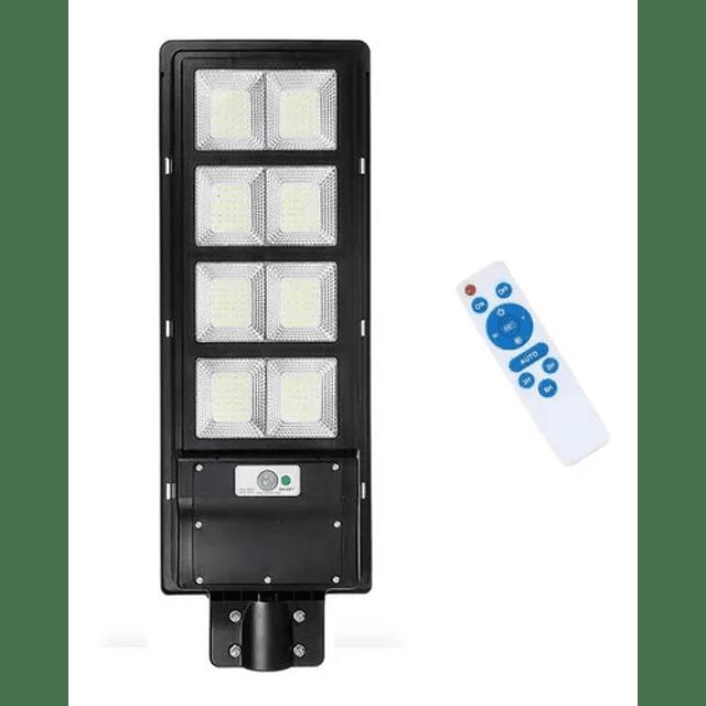 Foco Led Luminaria Solar 6500k 1200w Sensor Poste + Control