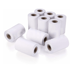 100 Rollos Papel Térmico Impresora 58mm Mini Pos 57mm X 40mm