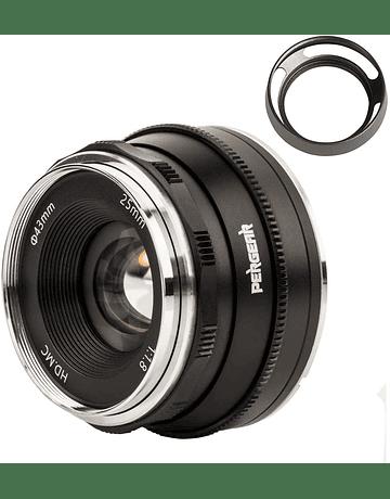 Pergear 25mm F1.8 Manual Focus Black Fujifilm/Sony