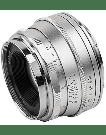Pergear 25mm F1.8 Manual Focus Silver Fujifilm/Sony