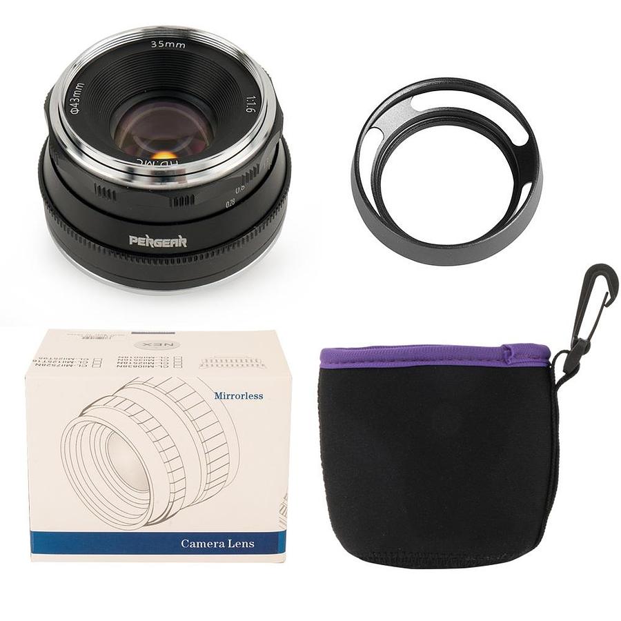 Pergear 35mm F1.6 Manual Focus Black FUJIFILM/SONY