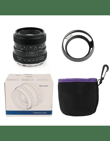 Pergear 50mm F1.8 Manual Black FUJIFILM/SONY