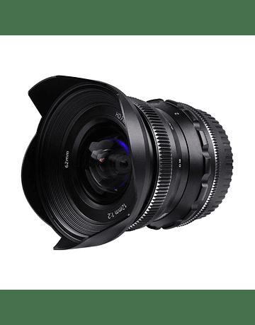 PERGEAR 12mm F2 Wide-angle Manual Black FUJIFILM/SONY