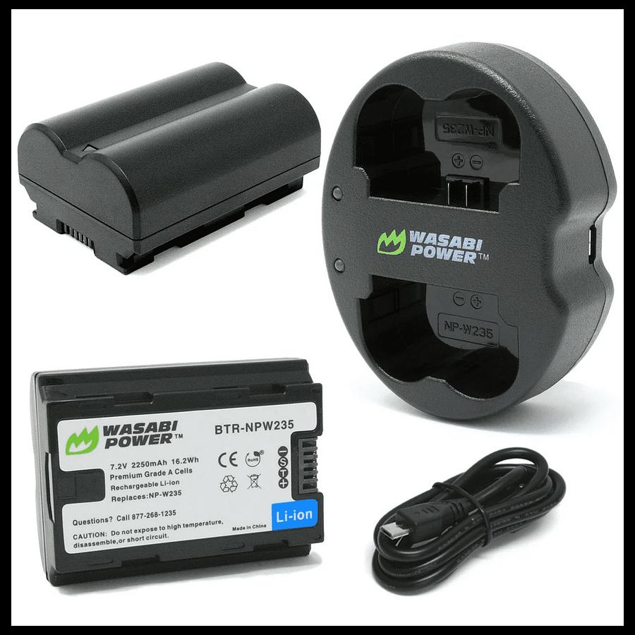 Wasabi kit NP-W235 2bat + cargador doble