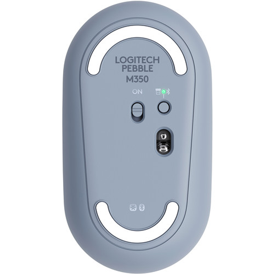 Logitech Pebble M350 - Optico Bluetooth Wireless 2.4GHz Gray