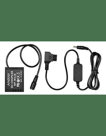 Andoer Dummy Battery NP-W126 5V a USB