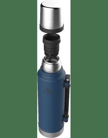 Termo Stanley Classic l 1.4 lt Azul Metalico