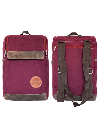 Mochila Morral Color Vino Tinto