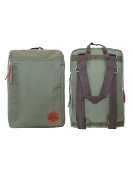 Mochila Morral Matera Verde C/Porta Notebook