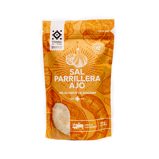SAL  PARRILLERA CON AJO 450g