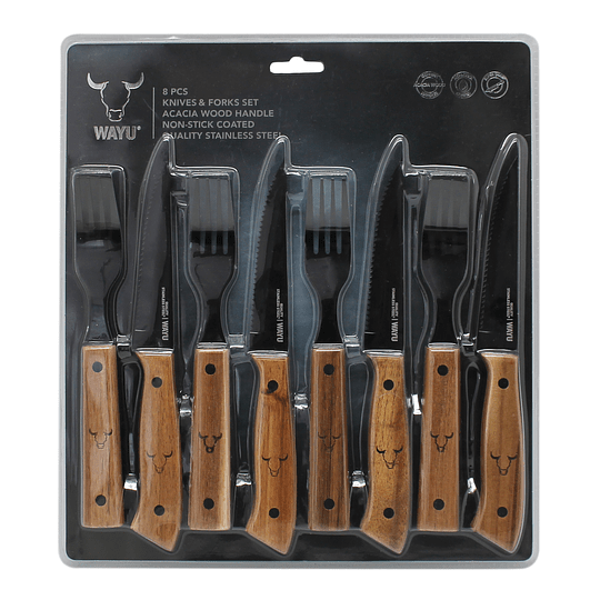 SET CUCHILLO TENEDOR 8 PCS