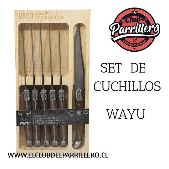 SET CUCHILLOS 6 WAYU
