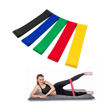 Bandas elásticas ejercicio Pack distintas tensiones
