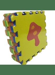 Alfombra goma EVA gruesa tipo puzzle didáctico