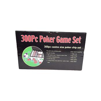 Caja 300 fichas poker 11 gr con naipes y dados