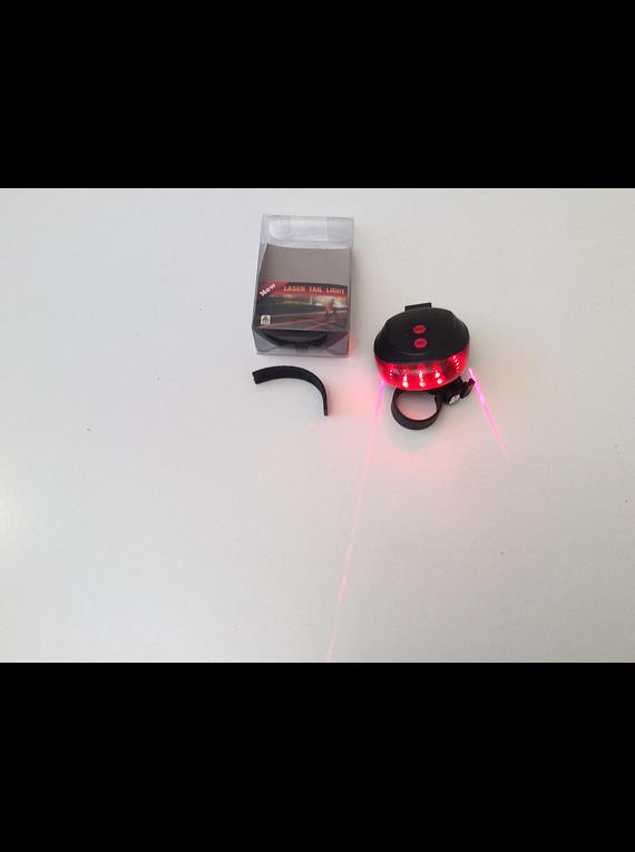 Luz trasera bicicleta con laser