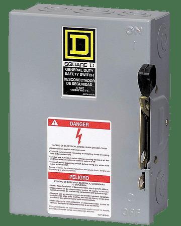 Interruptor de seguridad 3p, 30A DU321