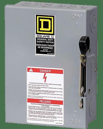 Interruptor de seguridad 3p, 60A DU322