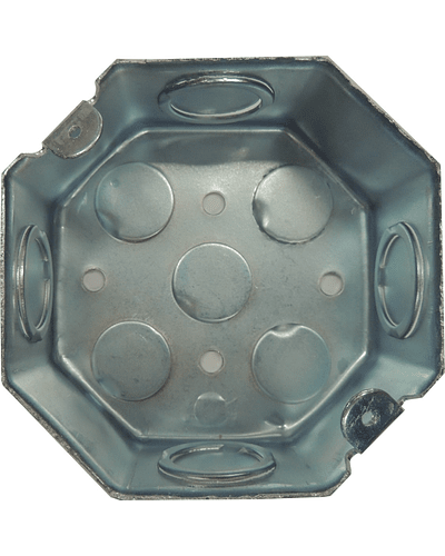 Octagonal box of 4 ''