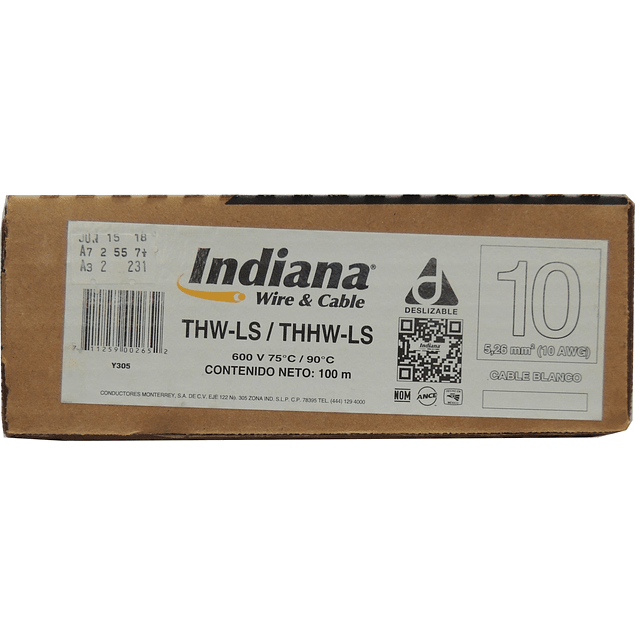 Cable Calibre 10 Indiana