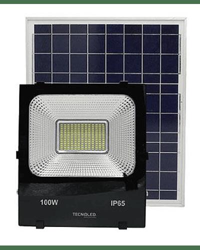 Reflector LED 100w Con Panel Solar