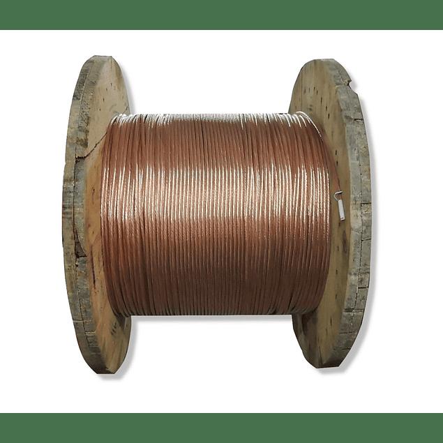 Carrete cable desnudo calibre 2
