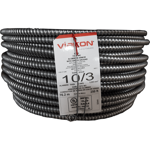 Cable Armorflex 3x10 (1H) tipo MC