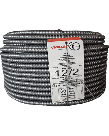 Cable armorflex 2x12 (1H) tipo MC