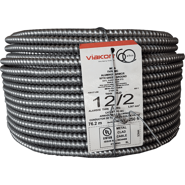 Cable armorflex 2x12 (1H) tipo MC
