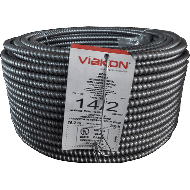 Cable Armorflex 2x14 (1H) Tipo MC