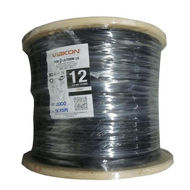 Carrete cable calibre 12 low-smoke