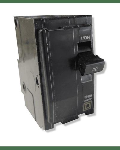 Interruptor SQUARE-D Modelo QO 2 polos