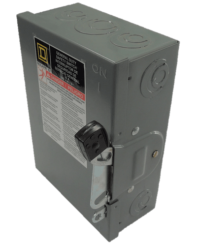 Safety switch model HU without fuse holder