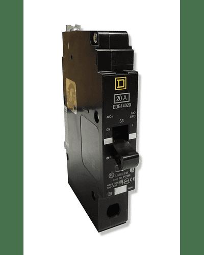 Interruptor termomagnetico 1P modelo EGB